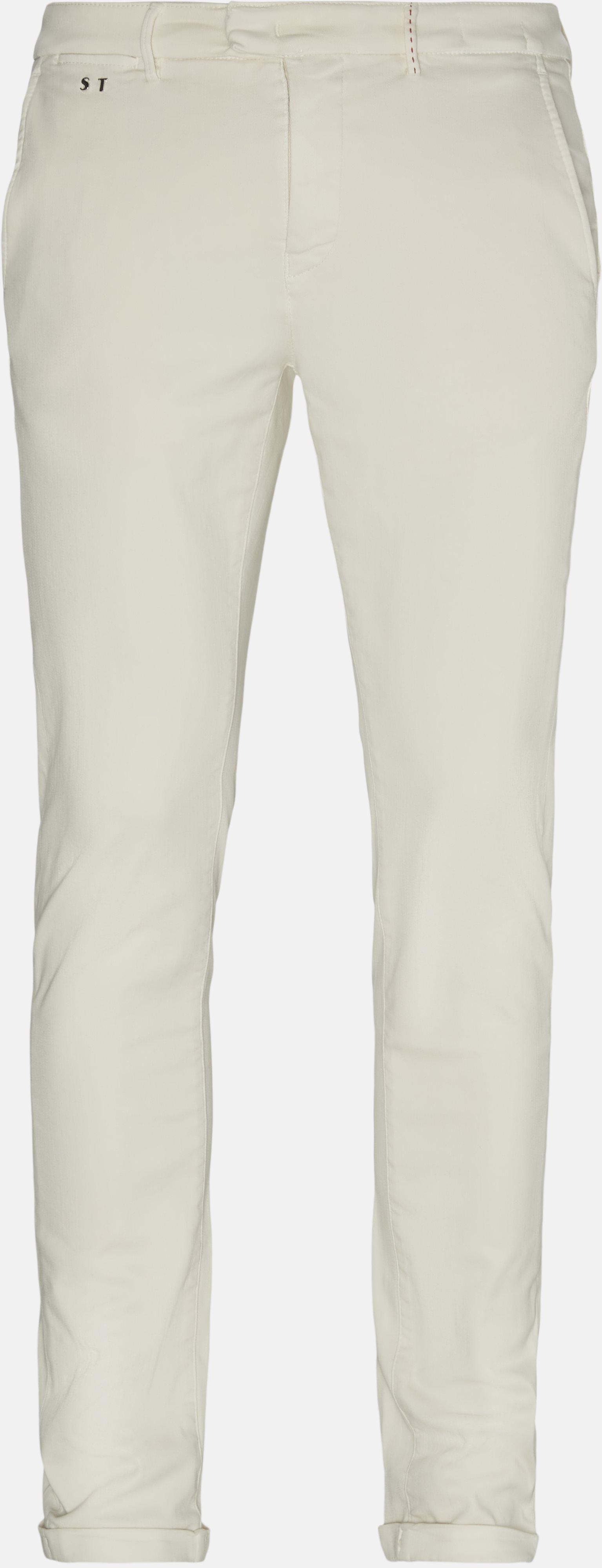 Bukser - Slim - Hvid